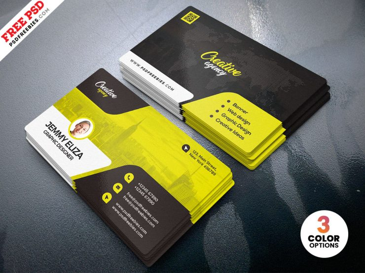 Designer Business Card Design PSD Template