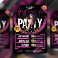 Awesome Club Party Flyer PSD Template
