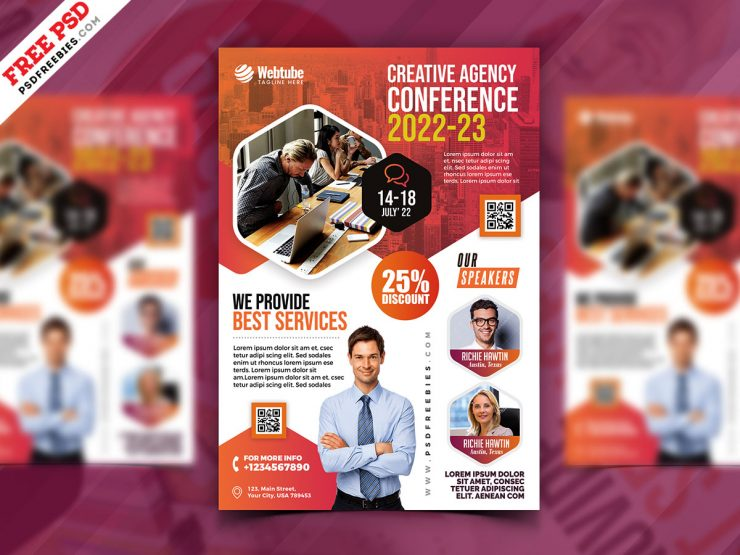 Business Seminar Promotion Flyer PSD Template