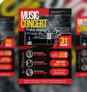 Live Music Concert Event Flyer PSD