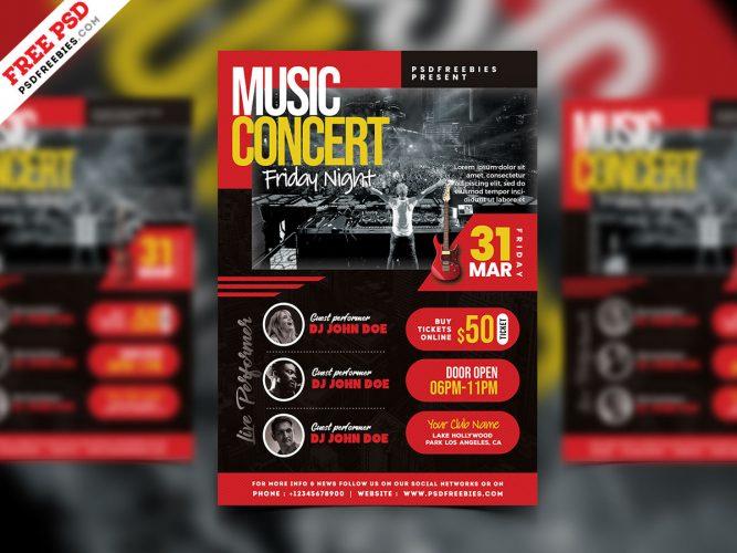 Live Music Concert Event Flyer PSD