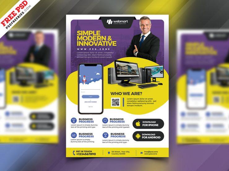 Multipurpose Business Promotion Flyer PSD