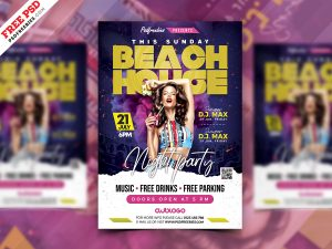 Music Club Party Flyer PSD Template