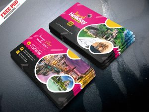 Business Card for Travel Agency PSD