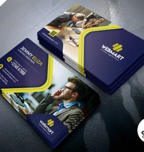 Designer Company Business Card PSD Template