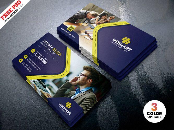 Designer Company Business Card PSD Template