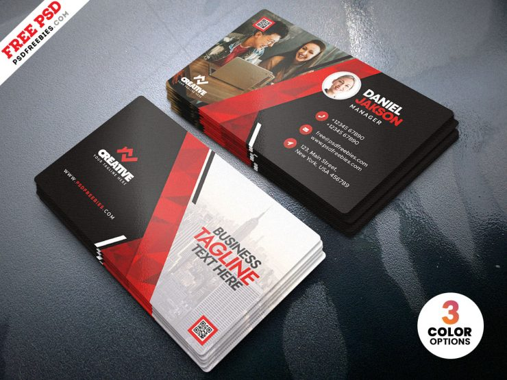 Free Creative and Modern Business Card PSD