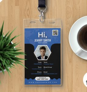 Professional Company Photo Identity Card PSD