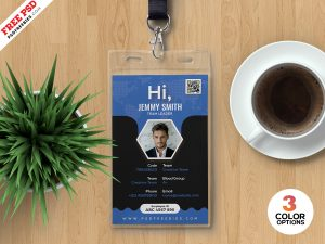 Professional Company Photo Identity Card PSD