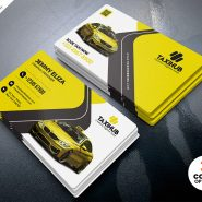Taxi Cab Service Business Card PSD