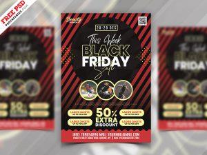 Black Friday Sale Promotional Flyer PSD