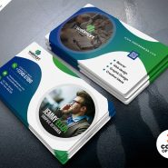 Corporate Branding Business Card PSD Template