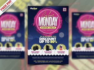 Cyber Monday Sale Flyer PSD