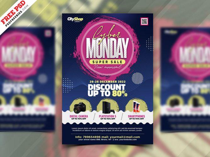 Cyber Monday Sale Flyer PSD