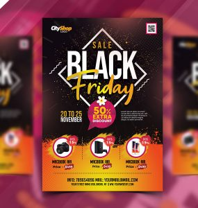 Latest Black Friday Sale Flyer PSD