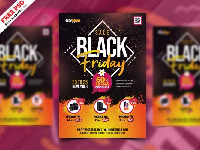 Latest Black Friday Sale Flyer PSD