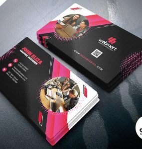 Modern Company Business Card PSD Template