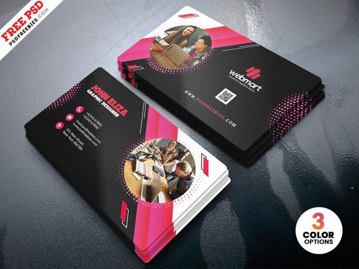 Modern Company Business Card PSD Template