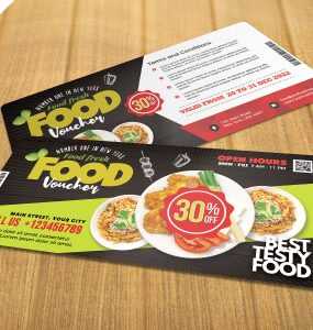 Restaurant Food Voucher Design PSD
