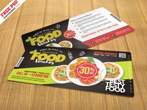 Restaurant Food Voucher Design PSD