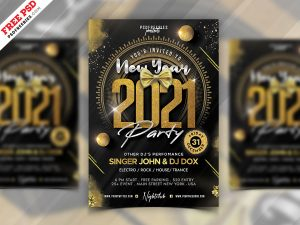 2021 New Year Party Flyer PSD
