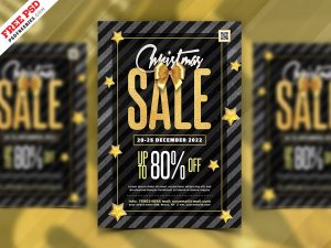 Christmas Sale Event Flyer PSD