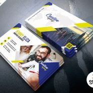 Company Business Card PSD Template