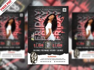 Designer Night Club Party Flyer PSD