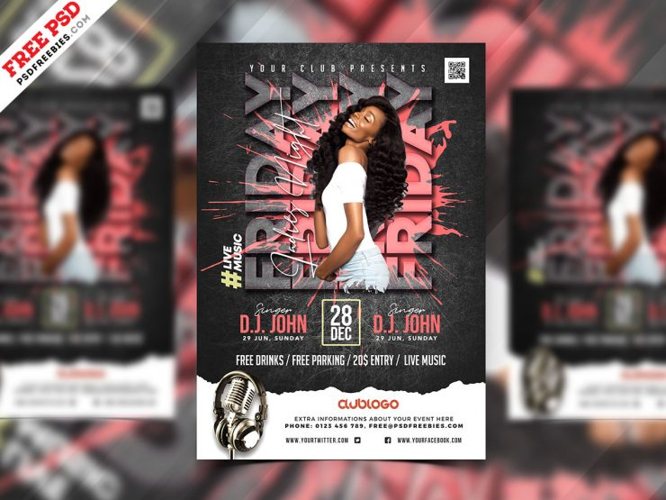 Designer Night Club Party Flyer PSD