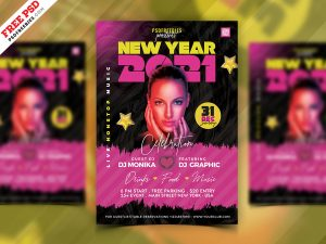 New Year 2021 Party Flyer PSD