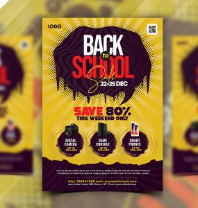 Back to School Season Sale Flyer PSD