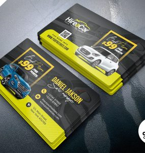 Car Rental Business Card PSD Template