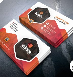 Corporate Company Business Card PSD