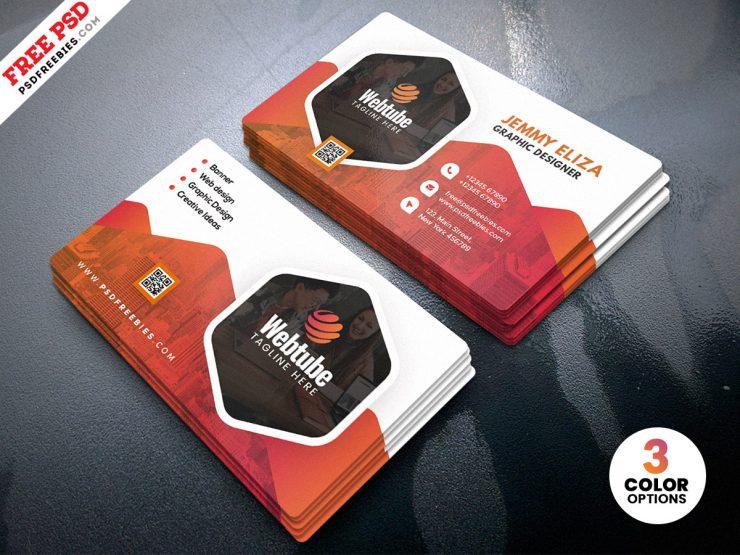 Corporate Company Business Card PSD