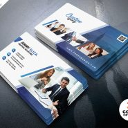 Creative Clean Business Card Design PSD