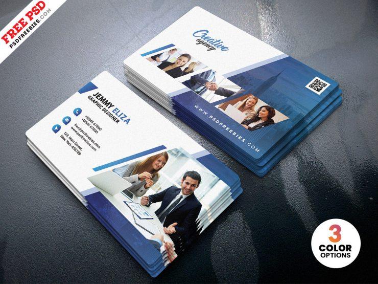 Creative Clean Business Card Design PSD