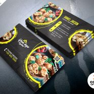 Restaurant Designer Business Card PSD Templates