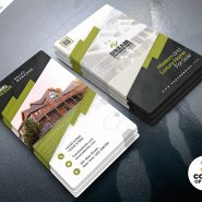 Stylish Real Estate Business Card PSD