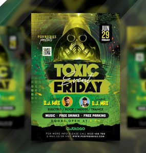 Toxic Music Party Flyer PSD