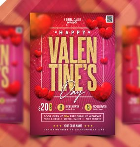 Valentines Day Special Event Flyer PSD