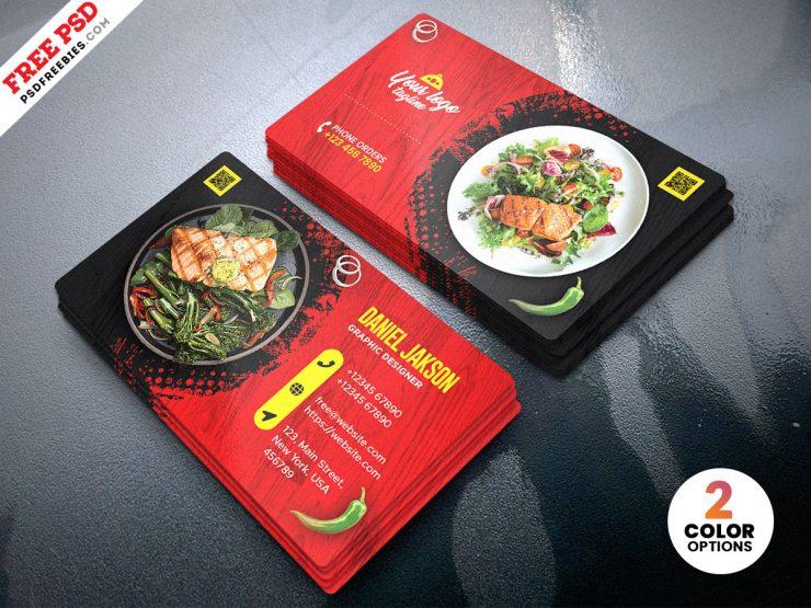 Creative Restaurant Business Card PSD Design