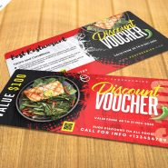 Food Meal Discount Voucher PSD Template