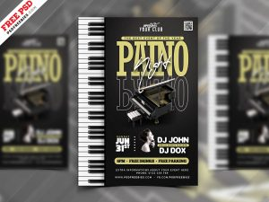 Piano Music Concert Flyer PSD Template