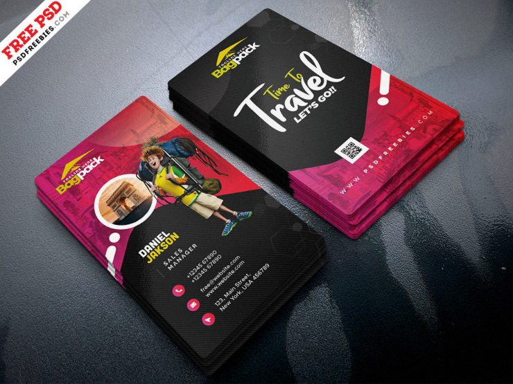 Travel Agency Business Card PSD Template