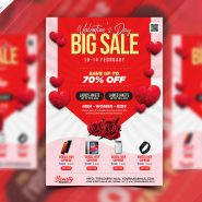 Valentine's Day Sale Promotion Flyer PSD