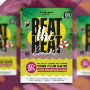 Beat the Heat Summer Music Event Flyer PSD