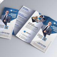 Business Marketing Tri-Fold Brochure Design PSD