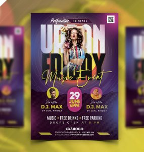 DJ Music Club Flyer PSD Template