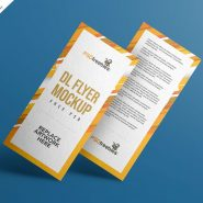 DL Flyer Mockup Free PSD