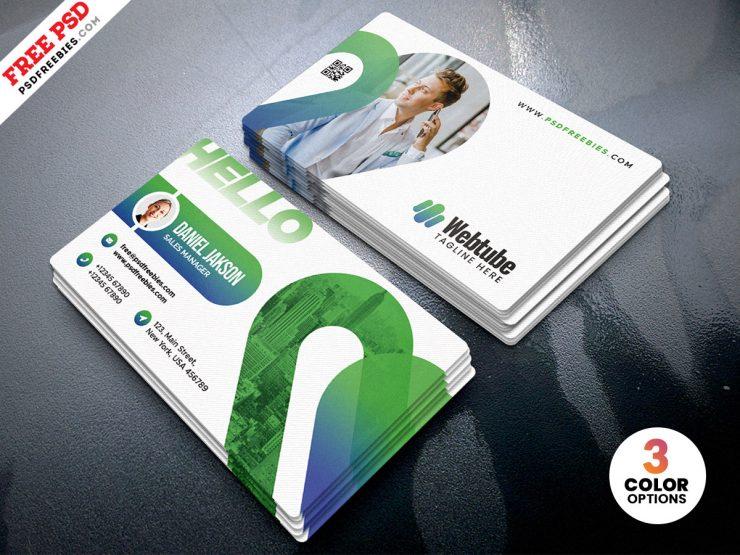 Elegant Minimal Business Card Template PSD